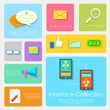Flat Interface Design Collection Stock Photography