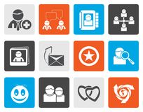Flat Internet Community and Social Network Icons Stock Photography