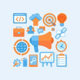 Flat  internet marketing concept Royalty Free Stock Images