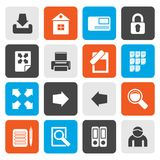 Flat Internet and Web Site Icons Stock Photography