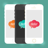 Mobile Device Smartphone Template. Vector Elements. Isolated Phone Flat Illustration. EPS10 Stock Photos