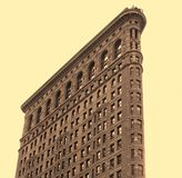 Flat Iron Building. The flat iron building in New York Royalty Free Stock Photo