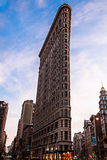 Flat Iron building, also known as Wainwright Building at 23rd St, Broadway, and Madison Ave. Royalty Free Stock Image