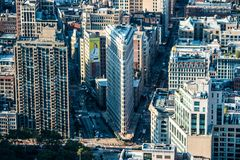 Flat iron building as seen from Empire State Buidling stock photo