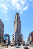 The Flat Iron building, a groundbreaking architectural feat was. NEW YORK - April 5 : Flat Iron building facade on April 5, 2014 in Manhattan, New York City. The Royalty Free Stock Images