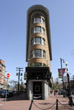 Flat Iron building Hotel Europa in Vancouver. On Gastown square Stock Images