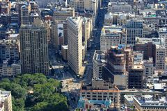 Flat Iron Building, Manhattan, New York USA Stock Photo