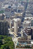 Flat iron district, new York city. Flat iron district from empire state building in new York city royalty free stock photos