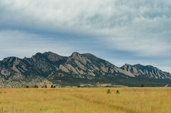 Flat Irons with Brown Grass Stock Photo