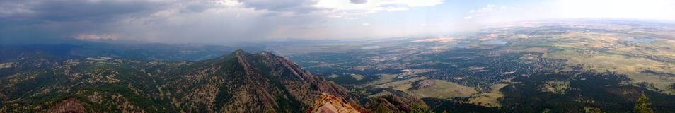 The Flat Irons. Top of the Flat Irons overlooking Boulder in Colorado Royalty Free Stock Images
