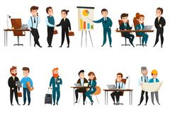 Business People Icon Set Royalty Free Stock Photo