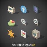 Flat Isometric Icons Set 8 Royalty Free Stock Image