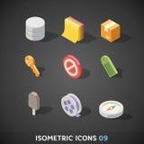 Flat Isometric Icons Set 9 Stock Photo