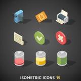 Flat Isometric Icons Set 15 Royalty Free Stock Photography
