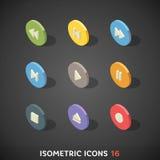 Flat Isometric Icons Set 16 Stock Photography