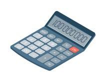 Flat isometric illustration of electronic calculator. Office wor. Flat isometric illustration of electronic calculator. Business and education workplace element Stock Image