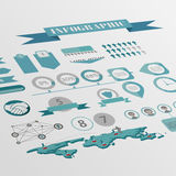Flat isometric infographics background vector Royalty Free Stock Photo