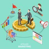 Affiliate marketing flat isometric vector concept. Royalty Free Stock Photography