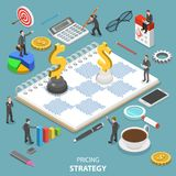 Pricing strategy flat isometric vector concept. Stock Photography