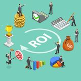 Return on investment flat isometric vector concept Royalty Free Stock Photo