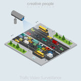 Flat isometric Video Camera transport vector  Stock Images