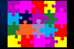 Flat jigsaw royalty free illustration
