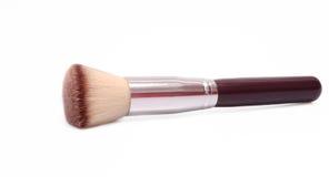 Flat kabuki brush. Flat top foundation makeup brush on white background Royalty Free Stock Photography