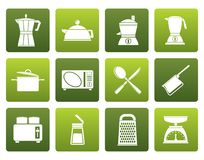 Flat kitchen and household equipment icon. Vector icon set Stock Photos