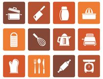 Flat Kitchen and household Utensil Icons. Vector icon set Royalty Free Stock Image