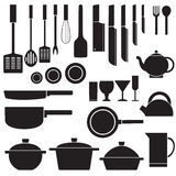 Flat kitchen table for cooking in house vector Royalty Free Stock Photography
