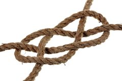 Flat knot Royalty Free Stock Photography
