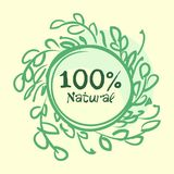 Flat label collection of 100 organic product and premium quality natural food badge elements. Isolated on white background. design. Flat label collection of 100 vector illustration