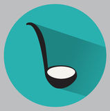 Flat ladle icon Royalty Free Stock Images