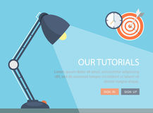Flat lamp illustration with icons. Stock Image