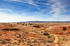 Flat Land. A flat, dry landscape in New Mexico Stock Photos