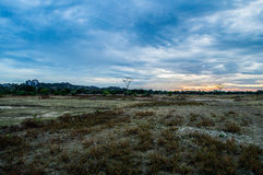Flat lands at the Foothills of Kudumbigala Monastery. In Sri Lanka royalty free stock photos