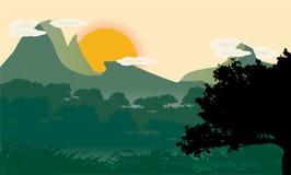 Flat landscape design Stock Photo