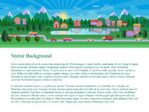 Flat landscape illustration. Website header. Text on white background Royalty Free Stock Images