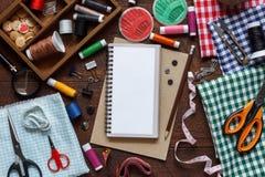 Flat lay aerial image of fashion designer items Stock Photo