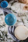 Set of dishware. Ceramic plates royalty free stock photography