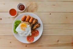 Flat lay of breakfast Stock Photo