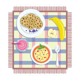 Flat lay breakfast Royalty Free Stock Images