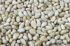 Full screen of pignoli, pine nuts stock photo
