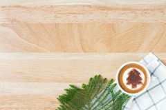 Flat lay coffee concept Royalty Free Stock Image