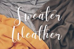 Flat lay with comfort warm outfit for cold weather. Comfortable royalty free stock photos