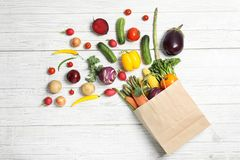 Flat lay composition with fresh vegetables stock photo