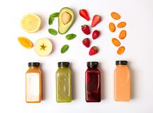 Free Flat Lay Composition With Healthy Detox Smoothies Stock Photo - 116122930