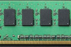 Flat lay graphic still life close-up of DIMM RAM computer memory chip module. Horizontal background or icon image. Flat lay graphic still life close-up of DIMM stock image