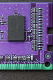 Flat lay graphic still life close-up of DIMM RAM computer memory chip module. Vertical background or icon image. Flat lay graphic still life close-up of DIMM royalty free stock images