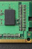 Flat lay graphic still life close-up of DIMM RAM computer memory module. Vertical technology background or border image royalty free stock photos